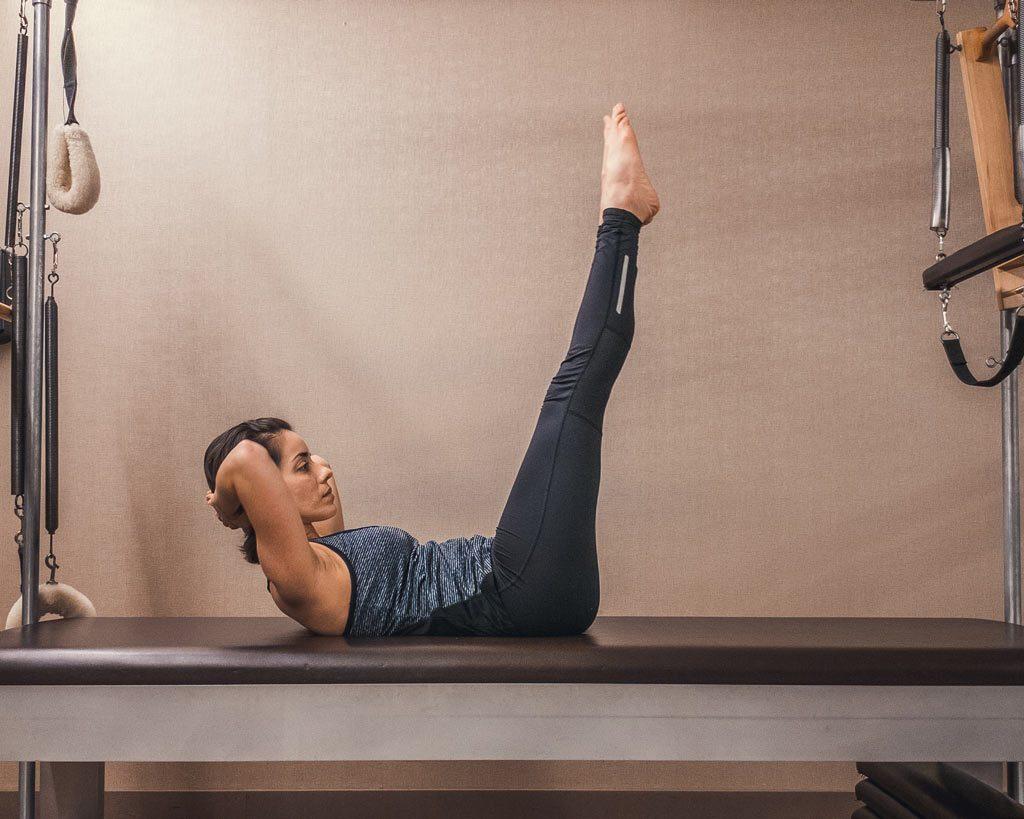 Core - Leg Lowers - legs straight upwards
